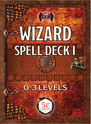 AU25.49 • Buy Wizard Spell Card Deck I (0th - 3rd) DnD Dungeons Dragons RPG TPK Games