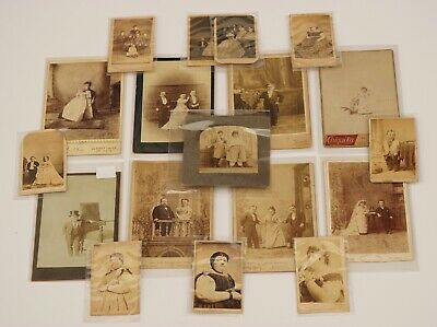 $ CDN1321.08 • Buy Outstanding 18 Cabinet Card CV Lot Of Circus Performers Dwarfs Freaks Fat Ladies