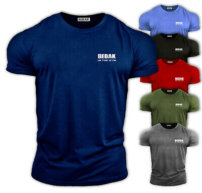 Mens Gym T-Shirt | Bodybuilding Workout Top Sports Training Clothing Tee Bebak • 12.99£