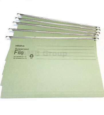 £6.50 • Buy Green Hanging Suspension Files Tabs Insert Filing Cabinet Foolscap Or A4 Folders