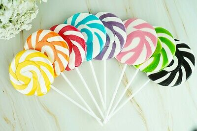 Rainbow & Unicorn Lollipop Rock Candy Halloween Lollies Baby Shower Party Favour • 4.49£