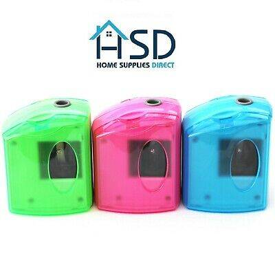 £9.99 • Buy HSD Automatic Single Hole Electric Desk Pencil Sharpener Battery/Mains Operated