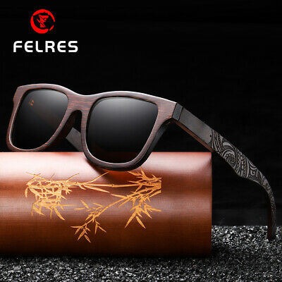 AU26.74 • Buy Men Women Bamboo Wood Polarized Sunglasses Wood Frame Outdoor Fashion Glasses