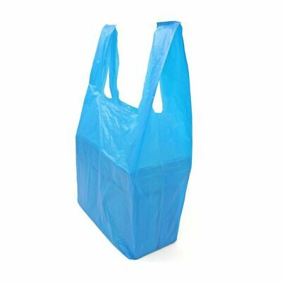"""£6.50 • Buy NEW JUMBO XXL Extra Strong BLUE Vest Carrier Bags Supermarket Style 12""""x18""""x24"""