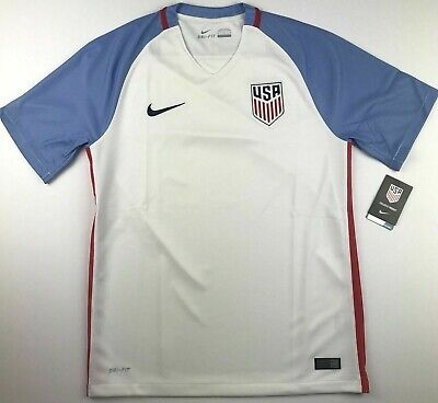 22a57842f Nike Mens Medium USA Dri Fit Soccer Jersey Stadium Home Top National Team  $90 • 49.99