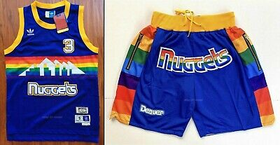 hot sale online fce7a 5983a denver nuggets throwback jersey