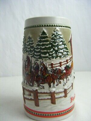 $ CDN20.71 • Buy ANHEUSER-BUSCH BUDWEISER CLYDESDALES Holiday Edition Beer Mug Steins