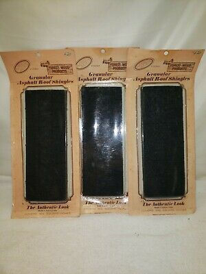 $32.90 • Buy Dollhouse Miniature Roofing Black Square Asphalt Shingles 1:12 3 Packs = 432sq