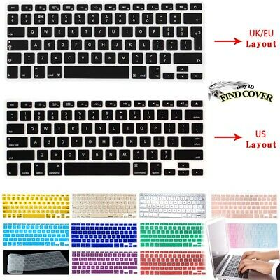 £3.49 • Buy Silicon Rubber UK/EU Layout Keyboard Skin Cover For Apple Macbook Air Pro Retina