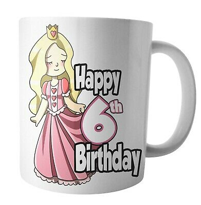 Princess Birthday Mug Gift Daughter Mum Wife Sister Grandaughter Nan ANY AGE • 12.95£