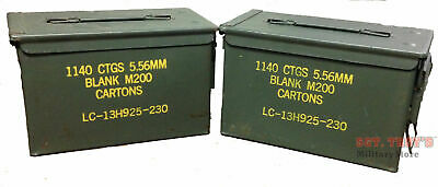 $23.50 • Buy 2 PACK .50 CALIBER 5.56mm AMMO CAN M2A1 50CAL METAL AMMO CAN BOX VGC Grade 2
