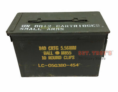 $23.98 • Buy .50 CALIBER 5.56mm Military AMMO CAN M2A1 50CAL METAL AMMO CAN BOX VERY GOOD
