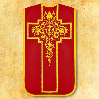 """£230 • Buy Roman Embroidered Chasuble """"Victima"""" Red"""