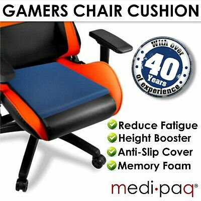 £13.45 • Buy Gaming Cushion Chair Seat Memory Foam Wedge Back Support Pain Relief Booster UK