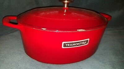 $ CDN101.50 • Buy Tramontina 7qt Oval Enamaled Cast Iron Dutch Oven