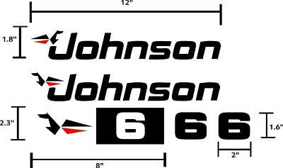 johnson outboard hp decals