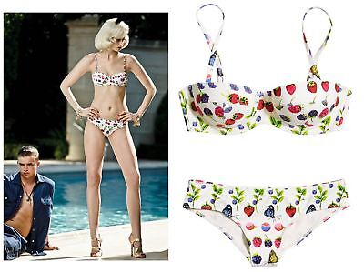 9426c5c853 NWT Versace H&M HM Fruit Bikini Set Top + Bottoms (Dust Bag) Limited  Swimsuit