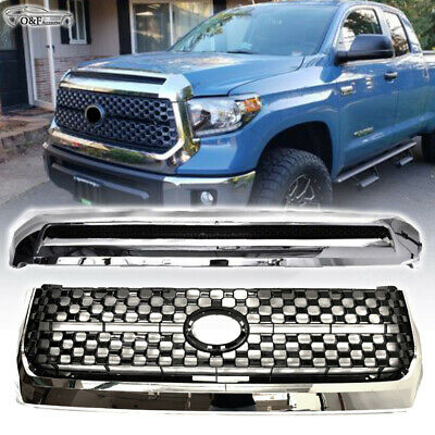 2014-2016 TOYOTA TUNDRA TRUCK FRONT HOOD UPPER MAIN MESH GRILLE GRILL CHROME NEW