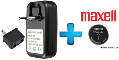 AU11.50 • Buy Maxell 3V ML2032 Lithium Rechargeable CMOS Battery ML 2032 / Charger(Loose)