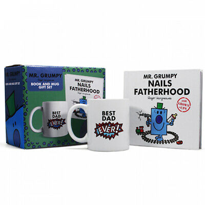 Mr Men Mr. Grumpy Nails Fatherhood Book & Mug Gift Set With A Box • 13.99£