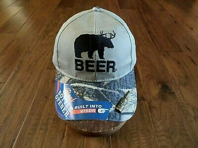 £10.64 • Buy Beer Sighting 6 Panel Cap Embroidered Hat Camouflage Bill W/ Bottle Opener