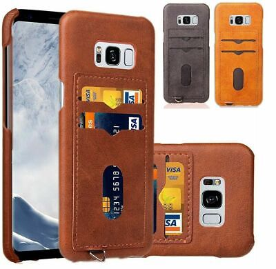 AU9.90 • Buy For Galaxy S10e S9 S8 Plus S7 Note9 8 Case Slim Leather Wallet Card Holder Cover