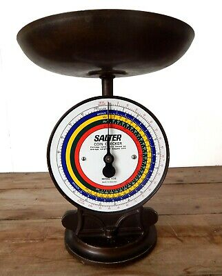 Vintage Salter Coin Checker Weighing Scale Shop Bank Post Office - England • 44.99£