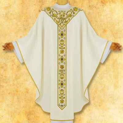 """£140 • Buy Embroidered Chasuble """"Gaudete"""" Ecru"""