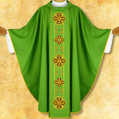 £120 • Buy Embroidered Chasuble Green