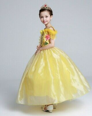 AU27.95 • Buy Girl Dress Costume Princess Belle Dress Magic Wand And Gloves Size 2-10 Years