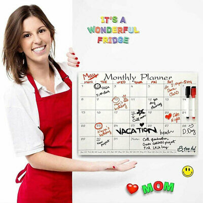 AU14.20 • Buy Home Office Magnetic Weekly Planner Board Dry Erase Calendar Wall Fridge Sticker
