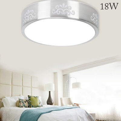 £9.59 • Buy 18W Bright Round LED Ceiling Down Light Panel Wall Chandeliers Bathroom Lamp New