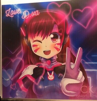 AU15.45 • Buy Overwatch Blizzard D.va Art Print