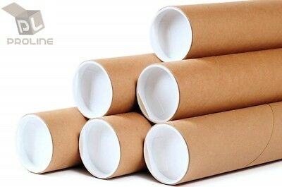 $6.50 • Buy 1.5 X12  ProLine Premium Kraft Mailing Shipping Tubes With End Caps - 1 Tube
