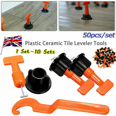 200Pcs Ceramic Floor Wall Construction Tool Reusable Tile Leveling System Kit • 10.99£