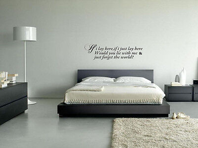 Snow Patrol Stickers IF I LAY HERE FORGET THE WORLD Quote Vinyl Decal • 10.14£