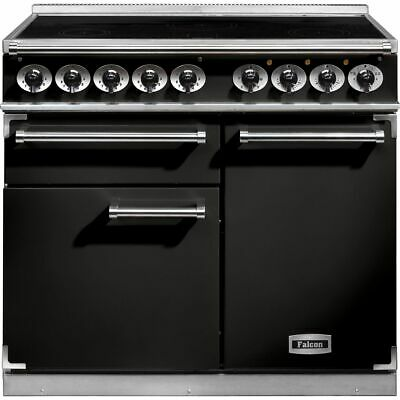 Falcon F1000DXEIBL/C 1000 DELUXE 100cm 5 Burners A/A Electric Range Cooker • 4,609£
