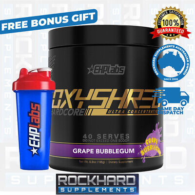 AU79.95 • Buy Oxyshred Hardcore Ultra 40 Serve EHP Labs Fat Burn Weight Loss EHPLabs Oxy Shred