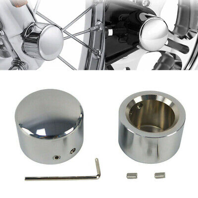 $9.39 • Buy 2pcs Chrome Front Axle Nut Cover Cap For Harley Sportster Softail Dyna V-Rod RS