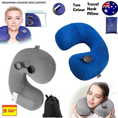 AU14.99 • Buy New Inflatable Air Travel Pillow Cushion Neck Support Flight Comfort For Univers