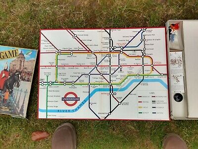 £35 • Buy Vintage  The London Game  Board (London Underground) Complete - Seven Towns 1972
