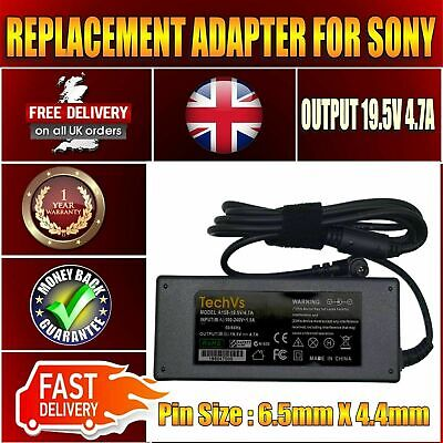 £102.69 • Buy SONY Vaio PCG-7Y1M REPLACEMENT 90W LAPTOP AC ADAPTER CHARGER