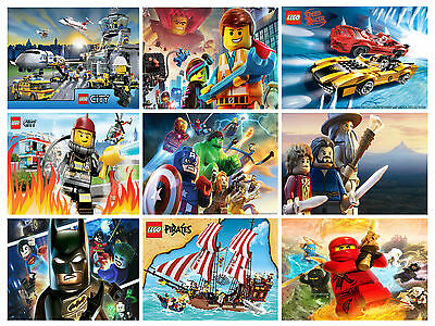 The Lego Movie Poster Wide Options Kids Wall Room Deco 30x21cm Buy 2 Get 1 Free • 3.79£