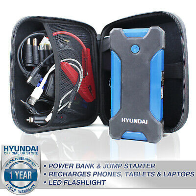 🔵 Power Bank Jump Start 400A 8100mAh Portable Charger Laptop 12V HYUNDAI • 84.99£