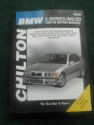 bmw 3-series/m3/z3 1989-98 repair manual chilton includes wiring