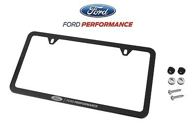 $34.95 • Buy Mustang F-150 Ford Performance Black Stainless Steel License Plate Frame