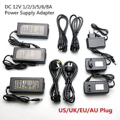 $ CDN4.54 • Buy AC110 220V Power Supply Adapter Transformer LED Strip 2A 3A 5A 8A DC 5V 12V 24V