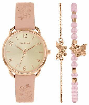 £7.95 • Buy Kahuna L Rose Gold Dial Pink Strap Watch  Akls-0450l Rrp £29.99