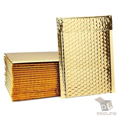 $12.95 • Buy 50 #000 Glamour Metallic Gold Poly Bubble Mailers Envelopes Bags 4x8 Extra Wide
