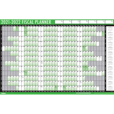 2021-2022 Financial Wall Planner Fiscal Mid Year Calendar Adhesive Dots With Pen • 5.95£